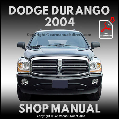 DODGE 2004 Durango ST, SLT, Limited SUV Shop Manual | carmanualsdirect