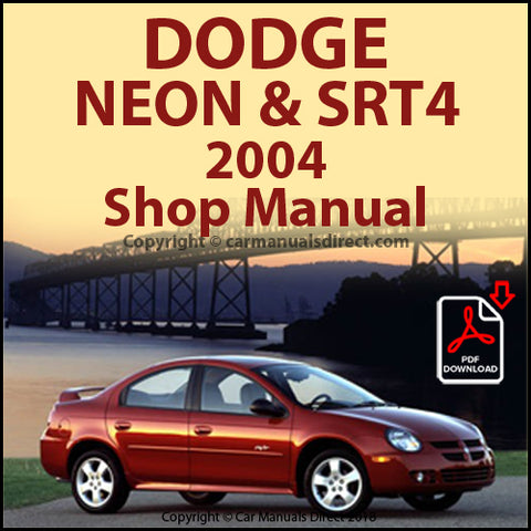 DODGE 2004 Neon and Neon SRT4 Shop Manual | carmanualsdirect