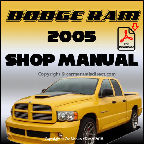DODGE 2005 Ram Pick Up Shop Manual | carmanualsdirect