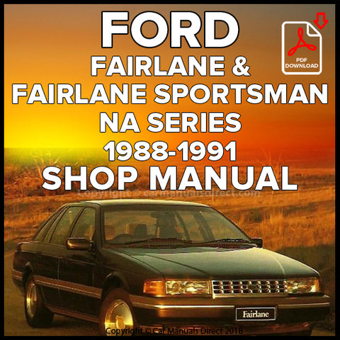 FORD Fairlane and Fairlane Sportsman NA Shop Manual | carmanualsdirect