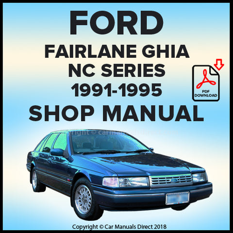 FORD Fairlane, Fairlane Ghia and Sportsman NC  Shop Manual | carmanualsdirect