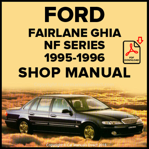 FORD Fairlane Ghia and Fairlane Concorde NF Shop Manual | carmanualsdirect