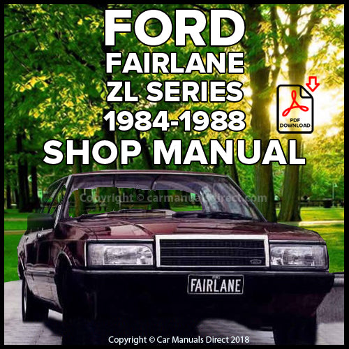 FORD Fairlane and Fairlane Sportsman ZL Shop Manual | carmanualsdirect