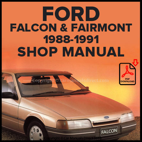 FORD Falcon, Fairmont and Fairmont Ghia EA Series 1988-91 Shop Manual | carmanualsdirect