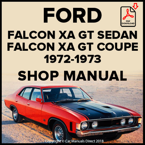 FORD Falcon GT Sedan and Hardtop XA Shop Manual | carmanualsdirect