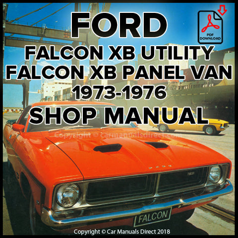FORD Falcon, Falcon 500, Utility and Panel Van XB Shop Manual | carmanualsdirect