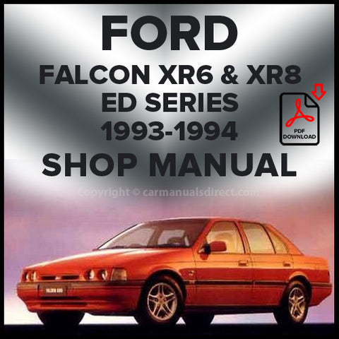FORD Falcon XR6 and XR8 ED 1993-1994 Shop Manual | carmanualsdirect