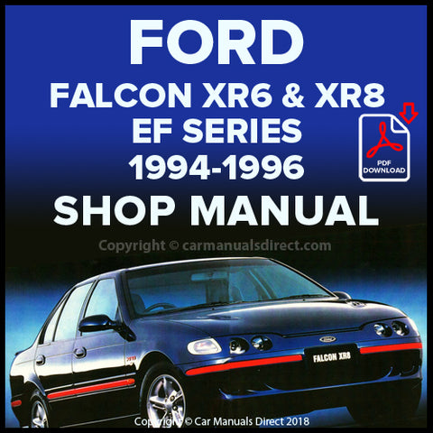 FORD Falcon XR6, Falcon XR8 EF Series 1994-96 Shop Manual | carmanualsdirect