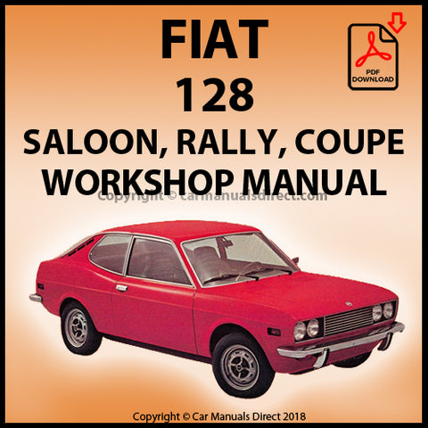 FIAT 128 SL1100 & SL1300 Sports Coupe Workshop Manual | carmanualsdirect