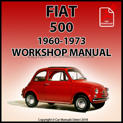 FIAT 500 1960-1973 Workshop Manual | carmanualsdirect