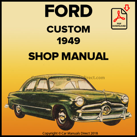 FORD Custom 1949 V8 Shop Manual | carmanualsdirect