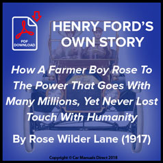 Henry Ford's Own Story By Rose Wilder Lane