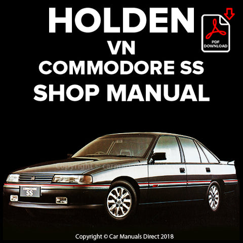 Holden Commodore SS V8 VN Shop Manual | carmanualsdirect