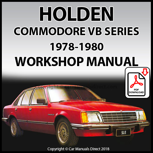 HOLDEN Commodore SL and Commodore SL/E VB 1978-1980 Shop Manual | carmanualsdirect