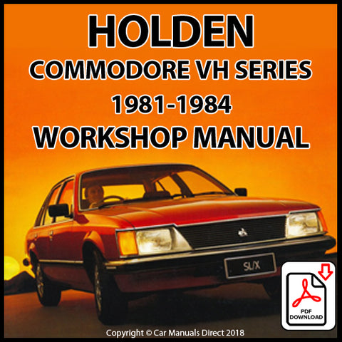 Holden VH Commodore SL Sedan and Station Wagon, Commodore SL/X Sedan and Station Wagon, Commodore SL/E Sedan and Station Wagon Shop Manual | carmanualsdirect