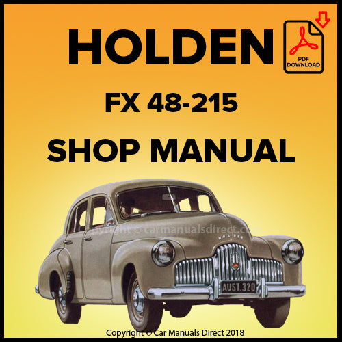 HOLDEN FX 48-215 Sedan and Utility Shop Manual | carmanualsdirect