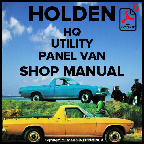 Holden HQ Belmont Utility, Kingswood Utility, Holden HQ Belmont Panel Van Shop Manual | carmanualsdirect