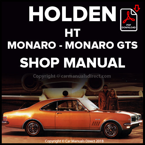HOLDEN HT Monaro and Monaro GTS 1969-1970 Shop Manual | carmanualsdirect