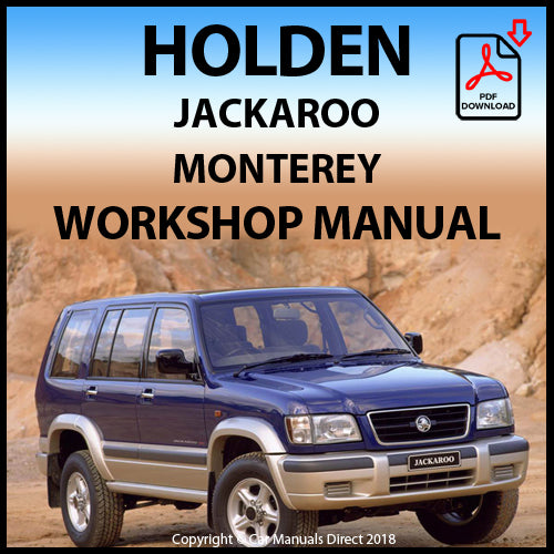 HOLDEN Jackaroo 1998-2002 Shop Manual | carmanualsdirect