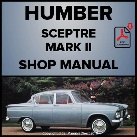 HUMBER Sceptre Mark II 1965 -1967 Workshop Manual | carmanualsdirect