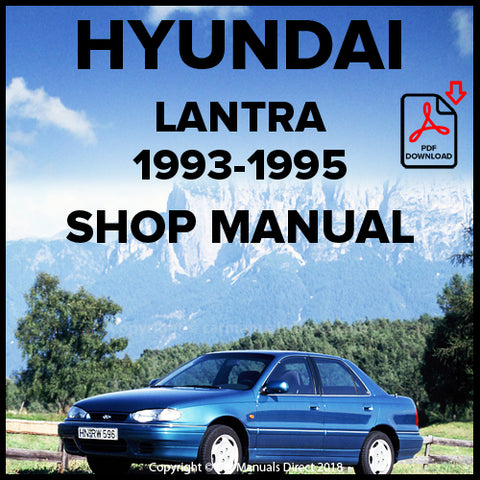 HYUNDAI Lantra 1993-1995 Shop Manual | carmanualsdirect