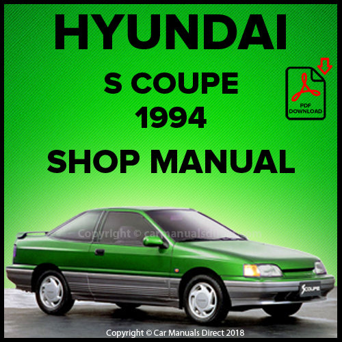 HYUNDAI S Coupe 1994 Shop Manual | carmanualsdirect