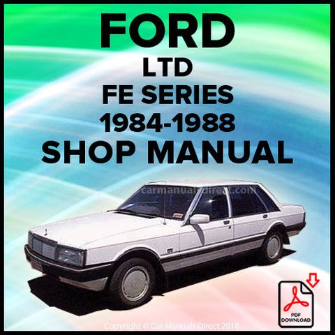 FORD LTD FE Shop Manual | carmanualsdirect