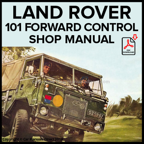 LAND ROVER Forward Control 1972-1978 Shop Manual | carmanualsdirect
