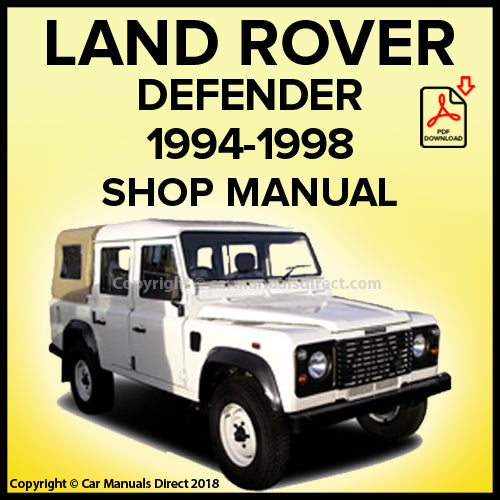 Land Rover Defender 90, Defender 110, Defender 130 Shop Manual | carmanualsdirect