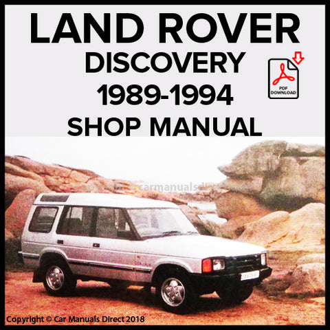 LAND ROVER Discovery 1989-1994 Shop Manual | carmanualsdirect