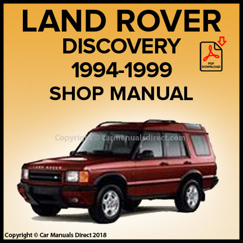 LAND ROVER Discovery 1994-1999 Shop Manual | carmanualsdirect