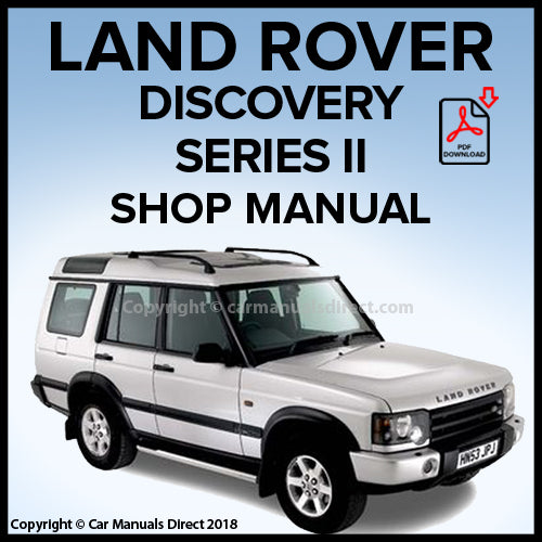 Land Rover Discovery Series 2 1999-2004 Shop Manual | carmanualsdirect