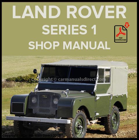LAND ROVER Series 1 1948-1958 Shop Manual | carmanualsdirect
