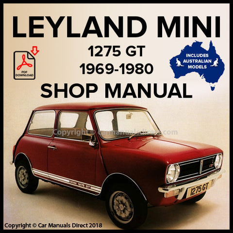 LEYLAND MINI 1275 GT 1969-1980 Workshop Manual | carmanualsdirect