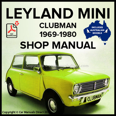 LEYLAND MINI Clubman 1969-1980 Workshop Manual | carmanualsdirect