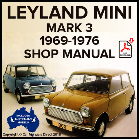 LEYLAND MINI Mark 3 1969-1976 Workshop Manual | carmanualsdirect