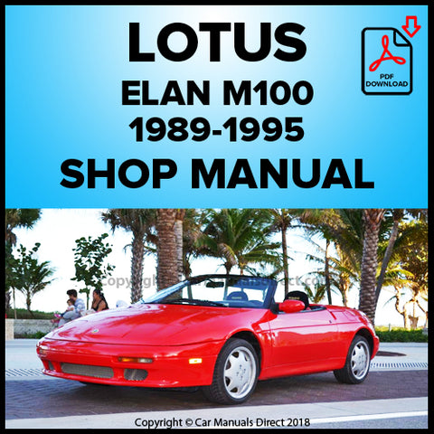 LOTUS Elan M100 1989-1995 Shop Manual | carmanualsdirect