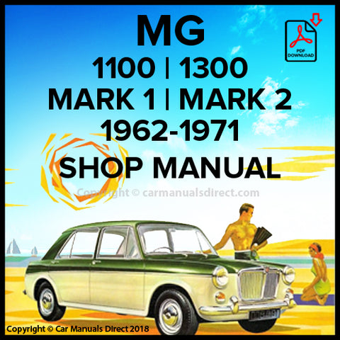 MG 1100 | MG 1300 | Workshop Manual | Shop Manual | carmanualsdirect