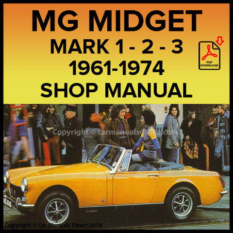 MG Midget Mark 1 | MG Midget Mark 2 | MG Midget Mark 3 | Shop Manual | carmanualsdirect