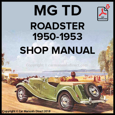 MG TD Shop Manual | carmanualsdirect