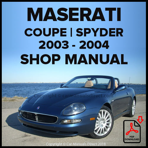 Maserati M138 Gransport Coupe and Spyder Shop Manual | carmanualsdirect