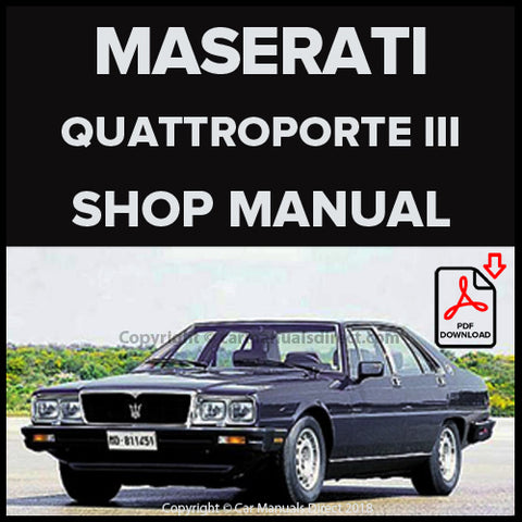 Maserati Quattroporte III, Quattroporte Royale III Shop Manual | carmanualsdirect
