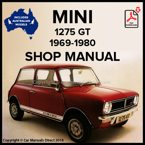 Mini 1275 GT Workshop Manual | carmanualsdirect