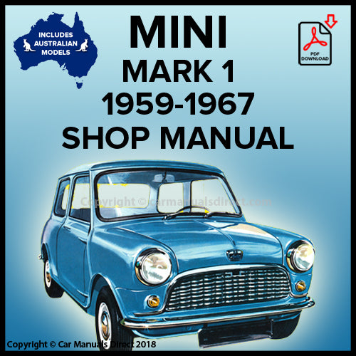 Austin, Morris, Mini Mark 1, Mini 850, Mini 998 Deluxe, Mini 998 Mini Matic, Mini 1100 Workshop Manual | carmanualsdirect | Austin | Morris | Mini Mark 1 | Mini 850 | Mini 998 Deluxe | Mini 998 Mini Matic | Mini 1100 | Shop Manual | Workshop Manual | carmanualsdirect