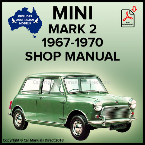 Austin Mini | Morris Mini | Austin Mini Super Deluxe | Morris Mini Super Deluxe | Mark 2 | Workshop Manual | carmanualsdirect