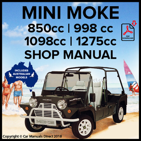 Mini Moke 850 | Mini Moke 998 | Mini Moke 1100 | Mini Moke 1275 | Workshop Manual | carmanualsdirect