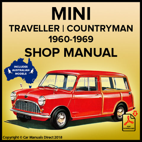 Austin Mini Countryman | Morris Mini Traveller | Mark 1 | Mark 2 | Workshop Manual | carmanualsdirect