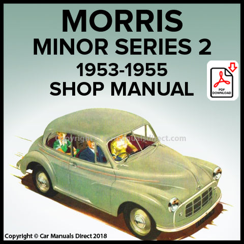 Morris Minor Series II 2 Door Saloon, Morris Minor Series II 4 Door Saloon, Morris Minor Series II Convertible, Workshop Manual | carmanualsdirect