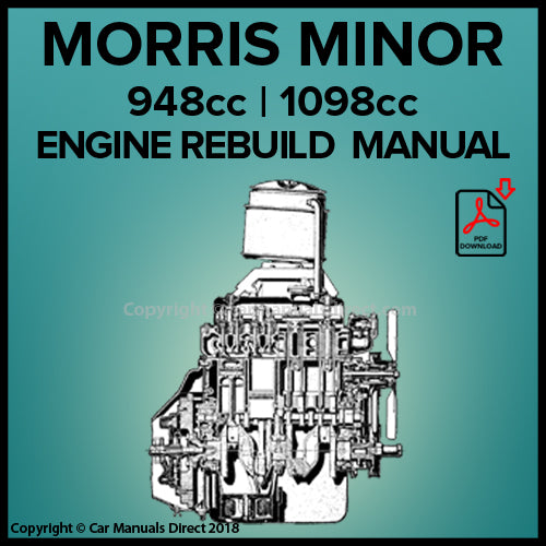 Morris Minor 948cc and 1098cc Engine Rebuild Manual | carmanualsdirect