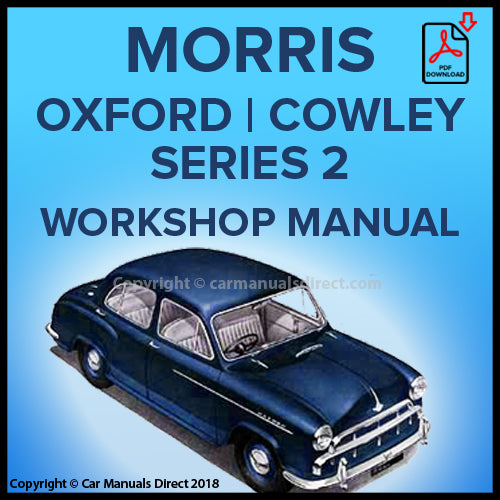 Morris Cowley Series 2 | Morris Oxford Series 2 | Workshop Manual | carmanualsdirect
